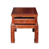 Chinese Oriental Huali Rosewood Flower Motif Tea Table Stand cs4594S