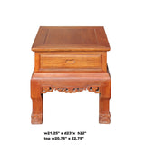 Chinese Oriental Huali Rosewood Plain Side Tea Table Stand cs4595S