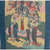 Large Chinese Canvas Art of The Three Great Emperor-Officials cs4613S