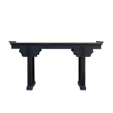 Rosewood black altar table - living room slim table - foyer table