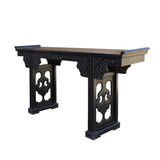 black wood altar table