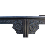 Chinese Brown Huali Rosewood Point Edge Relief Carving Altar Table cs4630S