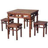 rosewood dinning table with chair set