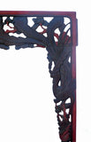 Vintage Hand Carved Chinese Black Red Carving Wall Decor Panel Frame cs464S