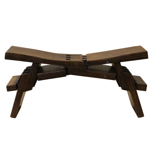 Chinese Brown Wood Folding Rectangular Table Top Stand Display Easel