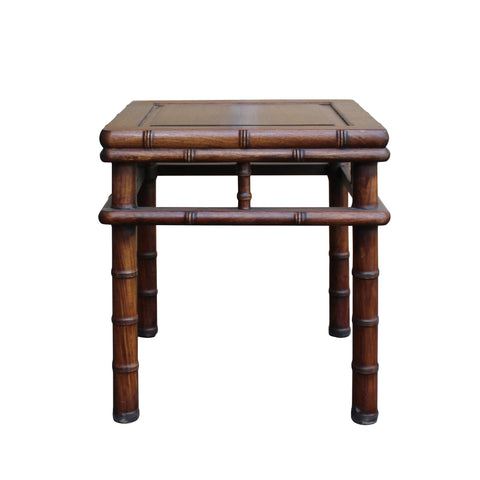 Chinese Brown Huali Rosewood Square Table Stool Chair cs4743S