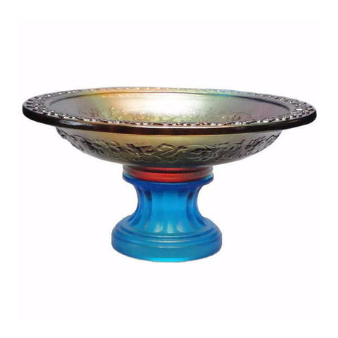 Liu Li (Crystal Glass) Pate-de-verr Candle Holder Offering Holder