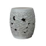 cloud pattern ceramic outdoor round stool