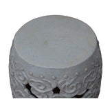 Oriental cloud pattern round stool