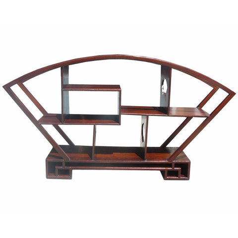 Chinese fan shape table top display stand