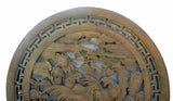 Chinese handmade round wall panel