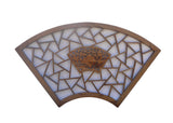 fan shape wood panel