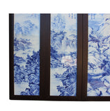 Chinese blue and white wall art