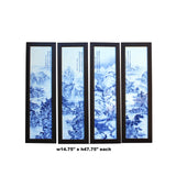Chinese Blue White Porcelain Scenery Wall Panel Set by Zheng Riqian cs4833S