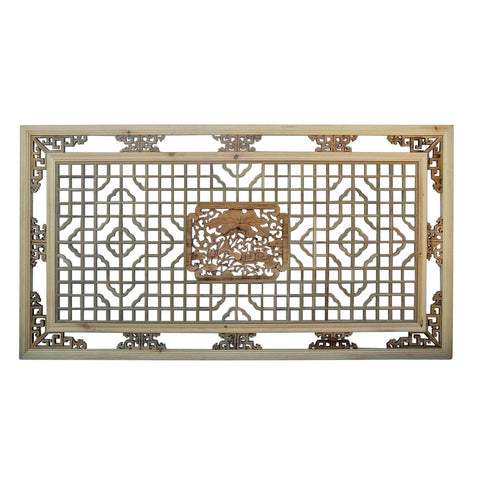 rectangular carved wall panel