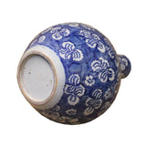Chinese Dark Blue White Porcelain Dragon Flower Graphic Vase cs4855S