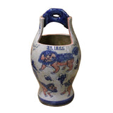Chinese Handmade Blue White Porcelain  Bucket Shape Pot Planter cs4872S