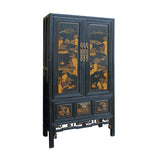 tall cabinet - wardrobe - black cabinet