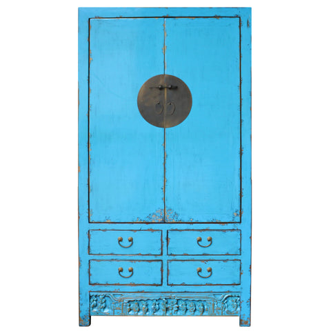 Blue cabinet - chinese cabinet - turquoise blue