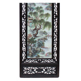 4 Porcelain Water Mountain Wood Frame Screen Wall Panel Headboard Set cs4969S