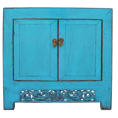 foyer table - blue table - console table