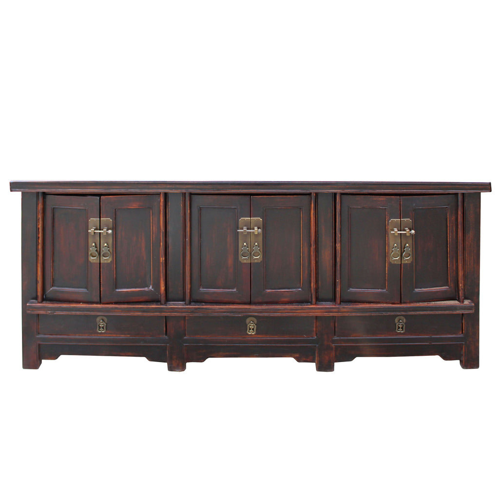 check out 62535 81d5e Chinese Oriental Zen Distressed Brown Console Sideboard TV Cabinet cs4979S