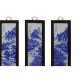 Chinese Blue White Porcelain Water Mountain Scenery Wall Panel Set cs4983S