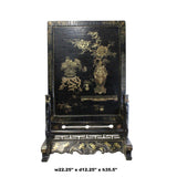 Chinese Golden Black Base Scenery Graphic Wood Display Plaque cs4987S