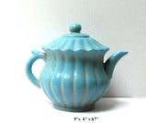 Chinese Blue Crackle Ceramic Pottery Jar Teapot Display cs499-5S