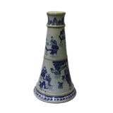 candle holder -blue white holder - porcelain