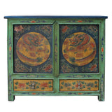 Tibetan cabinet - animal graphic - side table