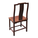 Chinese Yellow Rosewood Simple Straight Back Armchair cs5019S