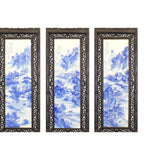 Chinese Mountain River Porcelain Blue & White Painting Wall Panel Set cs5031S