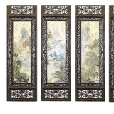 Chinese Mountain Water Scenery Porcelain Off White Painting Wall Panel Set cs5036S