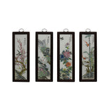 Chinese Color Porcelain Flower Birds Wood Wall Panels Set cs5037S