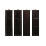 Chinese Rosewood Dream Stone Scenery Wall Panel Set 4 Pieces cs5067S