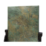 Jade Stone Plaque Precious Color Gemstone Inset Table Top Display cs5088S