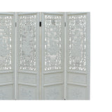 Chinese Distressed Off-white Lacquer 8 Immortal Wood Panel Floor Screen cs5093S