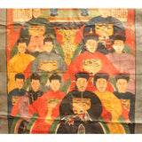 Chinese Hand-painted Canvas Color Ink Ancestors Painting Art cs5095S