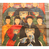 Chinese Hand-painted Canvas Color Ink Ancestors Painting Art cs5096S