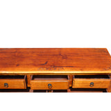 Chinese Vintage Low Altar Drawers TV Stand Cabinet cs5099S