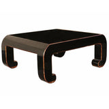 black lacquer square coffee table