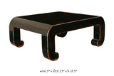 Handmade Solid Wood Modern Rectangular Shape Black Lacquer Coffee Table cs509S