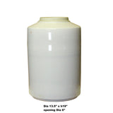 Chinese Oriental Ceramic Off White Glaze Plain Surface Large Vase Jar cs5104S