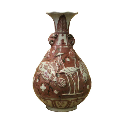 Ceramic Vase - White Vase - Chinese scenery
