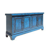 TV console - sideboard - Blue cabinet