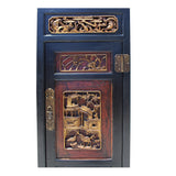 Chinese Fujian Black Brown Golden Graphic Armoire Storage Cabinet cs5153S