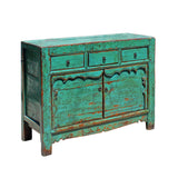 aqua green blue - credenza - console table