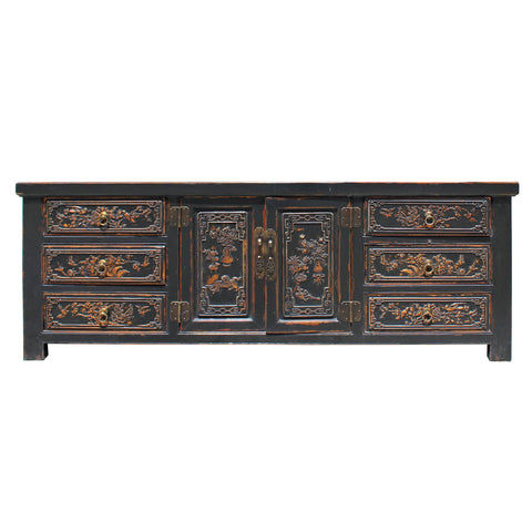 credenza - console cabinet - brown cabinet