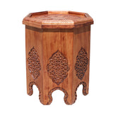 floral carving - south east asian - tray table